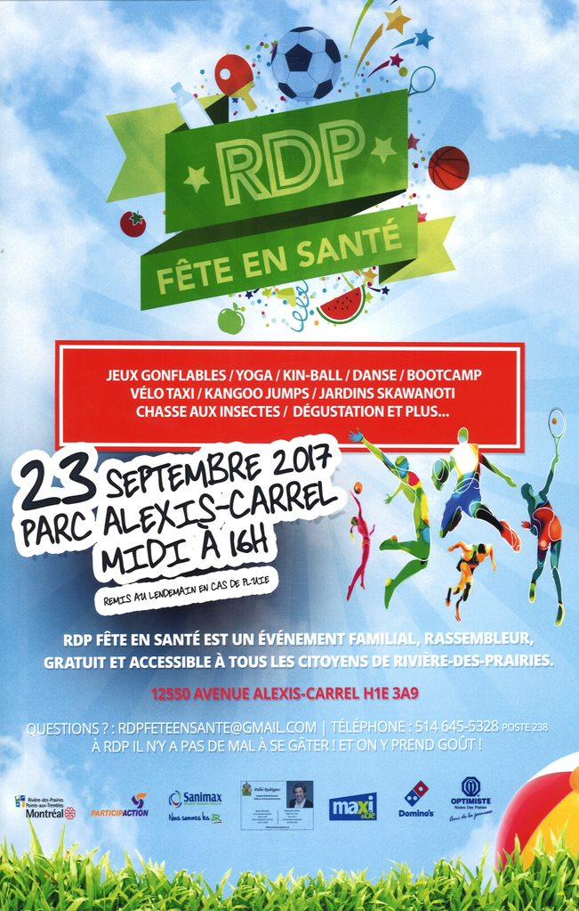 Affiche RDP fête en santé